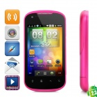 "G22 Android 2.3 GSM Bar Phone w/ 3.5"" Capacitive Screen, Quad-Band, Wi-Fi and Dual-SIM - Deep Pink"