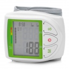 "2.0"" LCD Full Automatic Wrist Blood Pressure Monitor - White + Green (2 x AAA)"