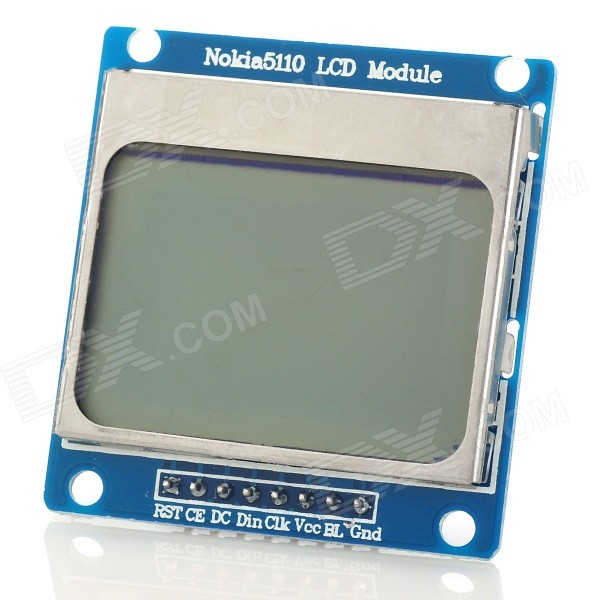 Quot nokia lcd module w blue backlit for arduino