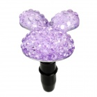 Rabbit Style 3.5mm Earphone Jack Anti-Dust Kit for iPhone Series - Purple