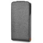External 2200mAh Power Battery Charger Snake Skin Style PU Leather Case for iPhone 4 / 4S - Black