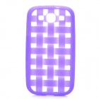 Weave Pattern Hollow Out Soft Silicone Case for Samsung Galaxy S3 i9300 - Purple