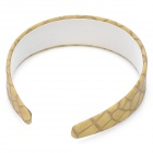 Stylish Stone Pattern PU + PVC Headband - Khaki