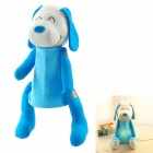 Cute Smiling Dog Doll Night Lamp - Blue + White