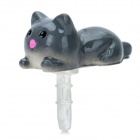 Cute Cat Style Anti-Dust Plug for iPhone / Cell Phone - Grey (3.5mm Plug)