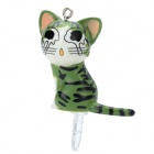 Crying Cat Style 3.5mm Earphone Anti-Dust Kit - Green
