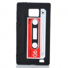 Retro Cassette Tape Style Protective Soft Silicone Case for Samsung Galaxy S2 i9100 - Black
