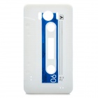 Retro Cassette Tape Style Protective Soft Silicone Case for HTC G21 Sensation XL X315e - White