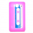 Retro Cassette Tape Style Protective Soft Silicone Case for HTC G21 Sensation XL X315e - Deep Pink