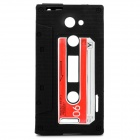 Vintage Cassette Protective Silicone Case for HTC One X - Black