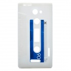 Retro Cassette Tape Style Protective Soft Silicone Case for HTC One X - White
