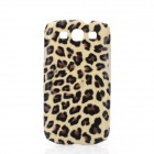 Plush Leopard Skin Pattern Protective PU Back Case for Samsung Galaxy S3 i9300 - Coffee