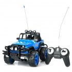 Cool Rechargeable 4-CH R/C 1:14 Model Car Toy - Blue + Black (4.8V/700mAh)