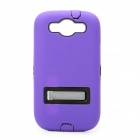 Robot Style Protective Plastic Back Case w/ Silicone Cover for Samsung i9300 - Purple + Black