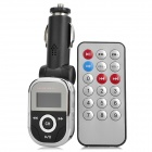 "Aeapple AP-125 1.0"" LCD Car MP3 Player FM Transmitter w/ USB Slot /Remote Controller - Black (2GB)"
