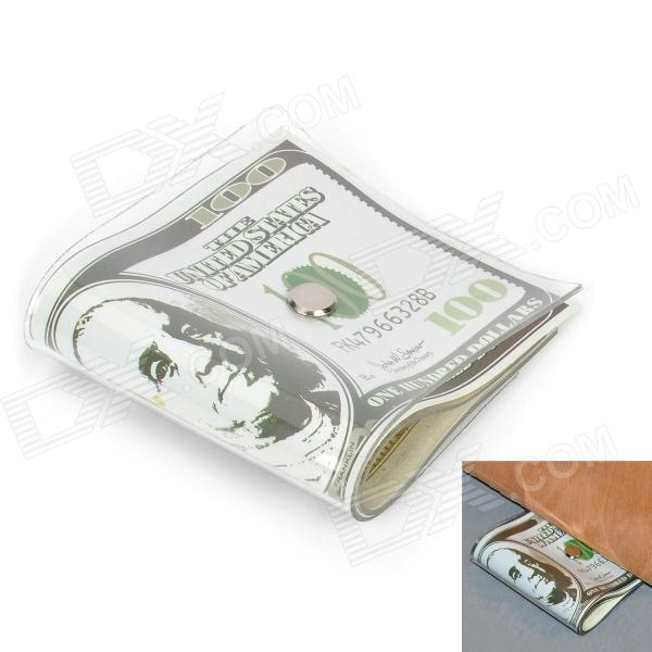 Creative 100 Dollar Bill Style Door Stopper Guard - White + Green + Black creative 100 dollar bill style door stopper guard white green black