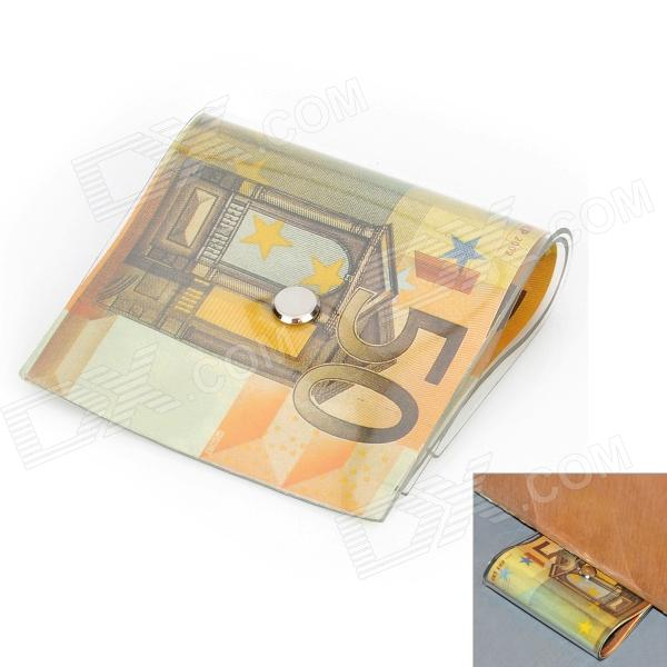 Creative 50 Euro Note Style Door Stopper Guard - Orange creative 100 dollar bill style door stopper guard white green black