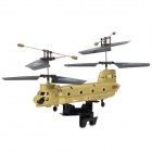 Rechargeable 3.5-CH IR Remote Control Dual-Propeller Transport Helicopter - Yellow + Black