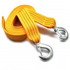 3 Ton Tow Strap Rope with Dual Forged Hooks - Yellow (5M)