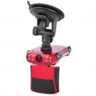 "HP209 3.0MP CMOS Wide Angle Car DVR Camcorder w/ 2.4"" LCD / TF / 8-IR LED - Red"