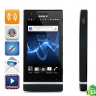 "Sony ST25i Xperia U Android 4.0 WCDMA Bar Phone w/ 3.5"" Capacitive, GPS and Wi-Fi - Black (8GB)"