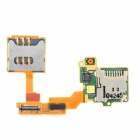 SIM Card Socket Flex Cable Ribbon for Sony Ericsson U8i - Golden + Silver