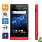 "Sony MT27i Xperia Sola Android 2.3 WCDMA Barphone w/ 3.7"" Capacitive, GPS and Wi-Fi - Red (8GB)"