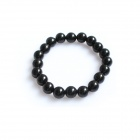 Fashion Round Beads Elastic Rope Bracelet - Black