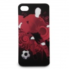 Full Protection Protective Front + Back Case Set for iPhone 4 / 4S - Man Playing Football (Red)
