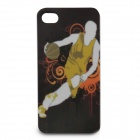Full Protection Protective Front + Back Case Set for Iphone 4 / 4S - Man Playing Basketball (Yellow)