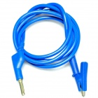 Banana Plug to Alligator Clip Test Probe Cable - Blue