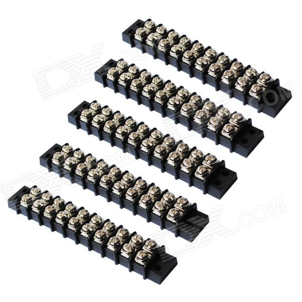 450V 32A Duplo Linha 20-Position parafuso Bloco Terminal Connector (5-Piece Pack)