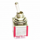 Electrical DIY Power Control 9-Pin Toggle Switch - Red + Silver (5-Piece Pack)