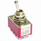 Electrical DIY Power Control 12-Pin Toggle Switch - Red + Silver (5-Piece Pack)