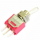 DIY Electrical energia controle 3-Pin Alternar Switch - Red + Silver (5-Piece Pack)