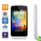 "G22 Android 2.3 GSM Bar Phone w/ 3.5"" Capacitive Screen, Quad-Band, Wi-Fi and Dual-SIM - White"