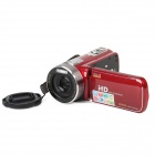 """3,0 """"TFT Touch LCD 5.0MP CMOS HD Digital Camcorder w / 600X Zoom - Red"""