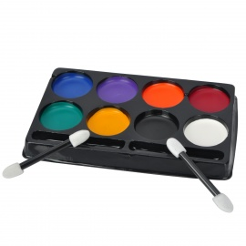 8-Color Halloween Role Play Makeup Paint Kit w/ Brushes