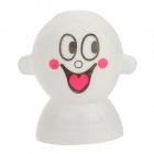 Love Cartoon Face LED Night Lamp - White (3 x AG13)
