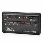 Portable Chromatic Auto Digital Tuner for Guitar - Black (2 x AAA)