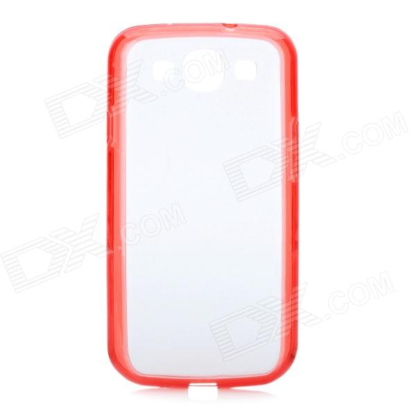 Protective PC + TPU Back Case for Samsung Galaxy S 3 i9300 - Red + Transparent protective aluminum alloy pc back case for samsung galaxy note 3 n9000 more red black