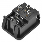 AC 250V 10A Power Jack Sockets w / Switch - Black (5-Pack)