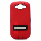 Stylish Protective Back Case with Stand for Samsung Galaxy S3 i9300 - Red + Black