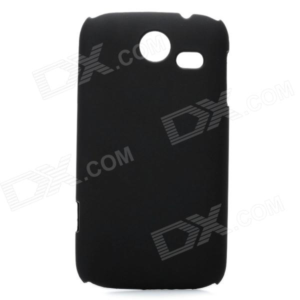 Protective Matte Frosted PC Back Case for Lenovo A750 - Black
