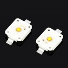3W 5500~6300K 260LM Warm White LED Light Bulbs - Yellow + White (2-Piece Pack)