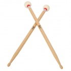 Instrument Wooden Jazz Drum Sticks - White (Pair/42cm)