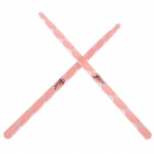 Instrument Acrylic Jazz Drum Sticks - Pink + Transparent (Pair)