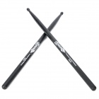 HUN Instrument Maple Wood Jazz Drum Sticks - Black (Pair)
