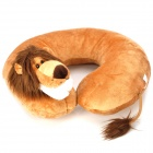 Lion Doll Style U Type Neck Pillow Cushion - Brown