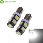 BA9S 4.5W 9x5060 SMD LED White Light Car Reading / Brake / Signal / Decorative Lamp (12V / 2-Piece)